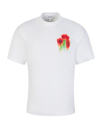 KENZO White Seasonal Graphic Crest T-Shirt
