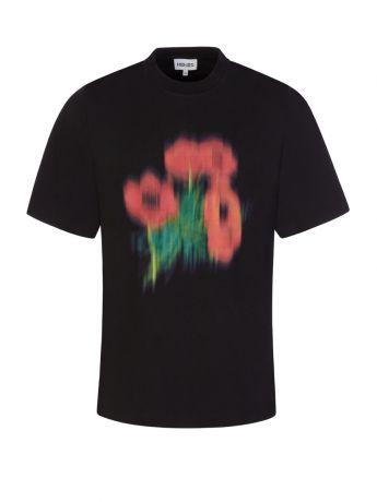 KENZO Black 'Poppy' T-Shirt