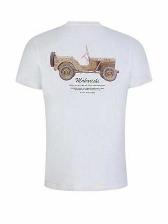 Maharishi White Jeep Print T-Shirt