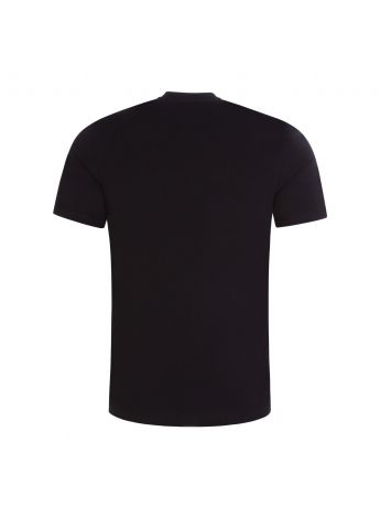 Moschino Couture Black Painted Gold Logo T-Shirt
