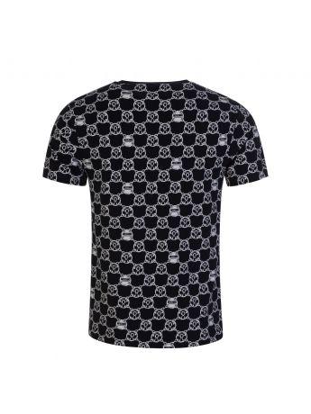 Moschino Black/Silver Chain Print T-Shirt