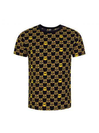 Moschino Black/Gold Underwear Chain-Print T-Shirt