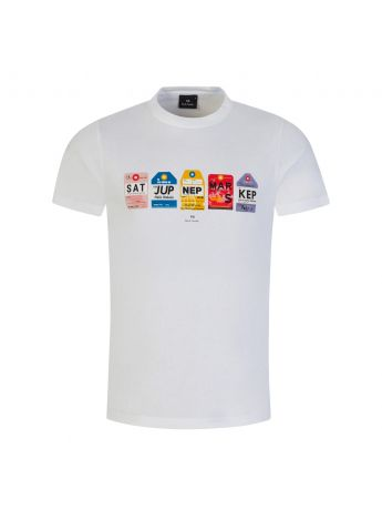 PS Paul Smith White Luggage Tags T-Shirt
