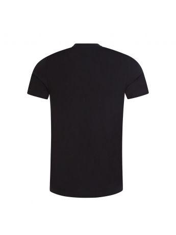 PS Paul Smith Black Slim-Fit 'Paint Splash Zebra' Print T-Shirt