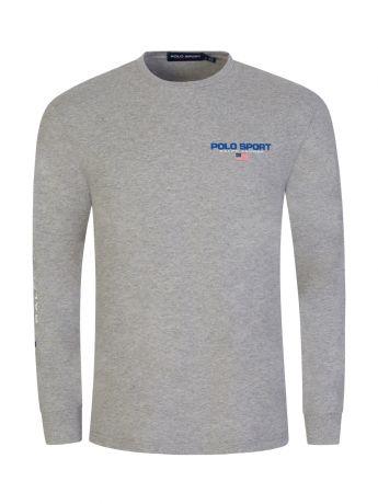 Polo Ralph Lauren Grey Polo Sport Long-Sleeve T-Shirt