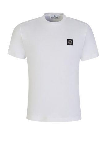 Stone Island White Cotton T-Shirt