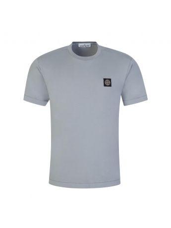 Stone Island Grey Garment Dyed Cotton T-Shirt