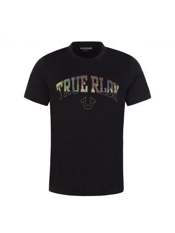 True Religion Black Arch Logo Print T-Shirt