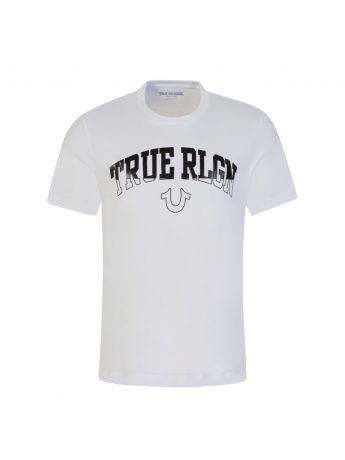 True Religion White Arch Logo Print T-Shirt