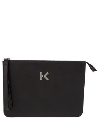 KENZO Black 'K' Pouch Bag