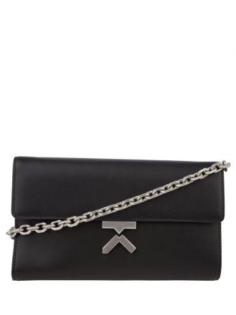 KENZO Black K Leather Crossbody Bag