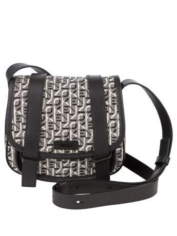 KENZO Black/Grey Courier Small Jacquard Messenger Bag