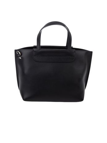 Tod's Black Leather Mini Shopping Bag