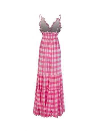 Sundress Pink Gingham Catalina Dress