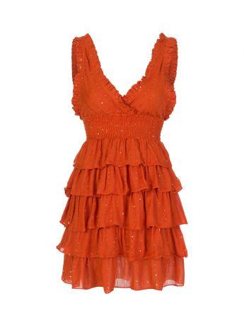 Sundress Orange Lolita Mini Dress