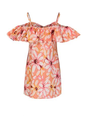 Sundress Pink Linen Maelle Short Dress