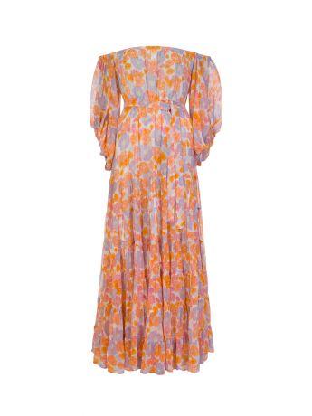 Sundress Pink Salome Floral Maxi Dress