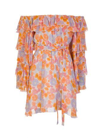 Sundress Pink Tess Floral Mini Dress