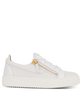 Giuseppe Zanotti White Low-Top Gail Trainers
