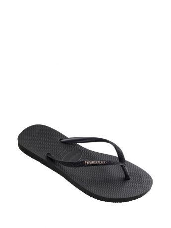 Havaianas Black Glitter Slim Fit Flip Flops