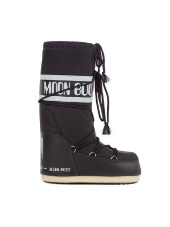 Moon Boot Black Icon Nylon Boots