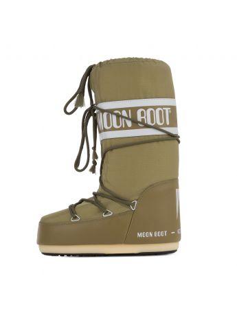 Moon Boot Khaki Icon Nylon Boots