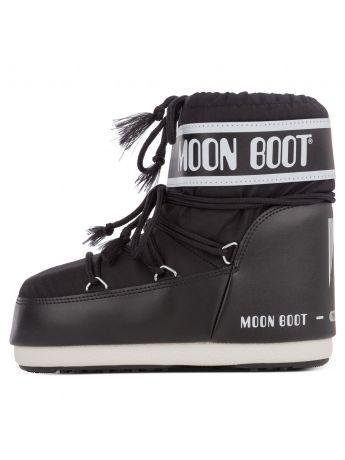 Moon Boot Black Nylon Icon Low Boots