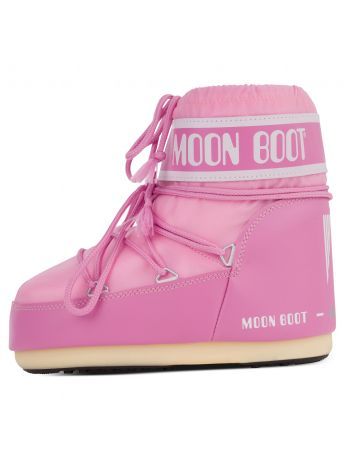 Moon Boot Pink Nylon Icon Low Boots