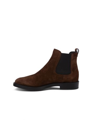 Tod's Brown Suede Chelsea Boots