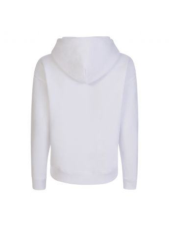 Tommy Jeans White Heart Flag Boxy Hoodie