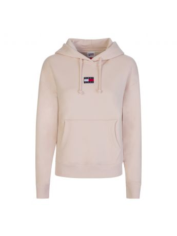 Tommy Jeans Beige Centre Badge Popover Hoodie