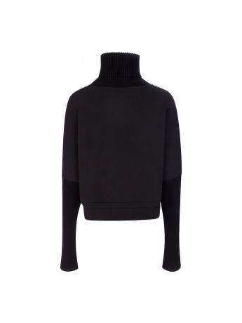 Varley Black Britannia Knitted Sweatshirt