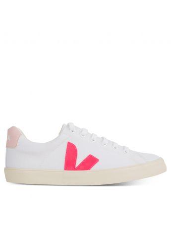 VEJA White/Pink Esplar-SE Canvas Trainers