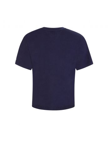 Tommy Jeans Navy Logo Cropped T-Shirt