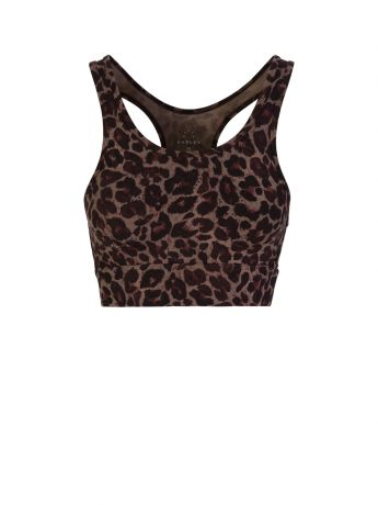 Varley Brown Berkeley Tort Leopard Sports Bra