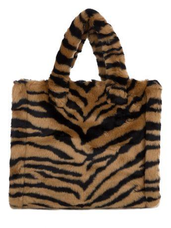 Stand Studio Brown Tiger-Print Lolita Bag