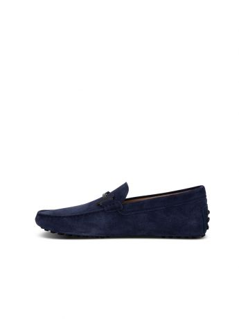 Tod's Navy Suede Driving Loafers