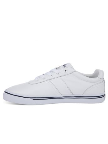 Polo Ralph Lauren White Leather Hanford Trainers