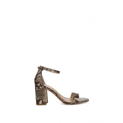 Daniella Beige Snake Print Shoes