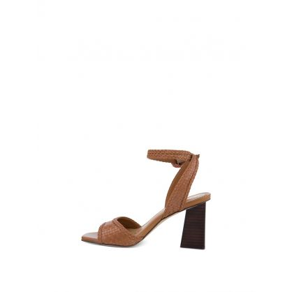 Brown Danee Block Heel Sandals
