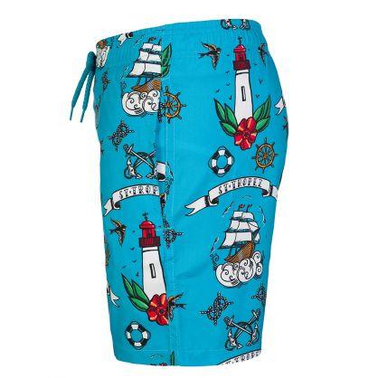 Junior Blue Tattoo Swim Shorts