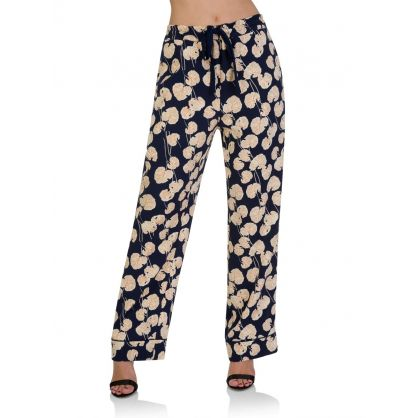 Navy Veronica Leaf Trousers