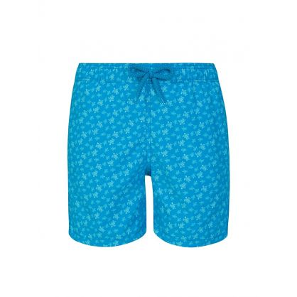 Junior Blue Micro Turtles Swim Shorts