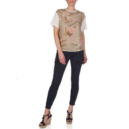 Cream Floral T-Shirt