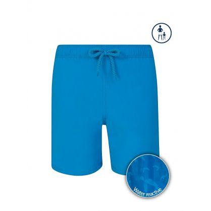 Junior Blue Shellfish & Turtles Water-Reactive Swim Shorts