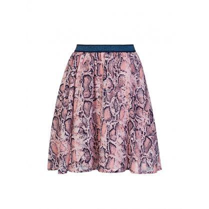 Kids Pink Viper Snake Skirt