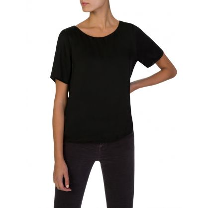 Black Short-Sleeve Top