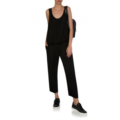 Black Hillary Pleat Trousers