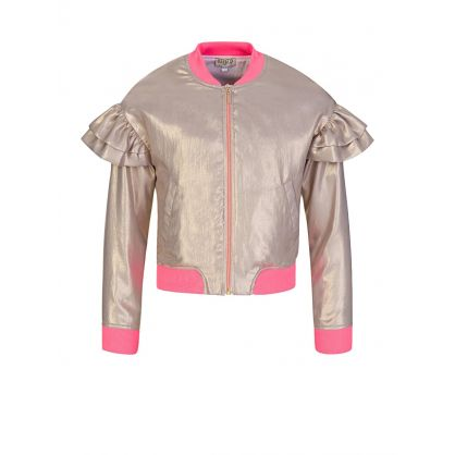 Gold Metallic Bomber Jacket