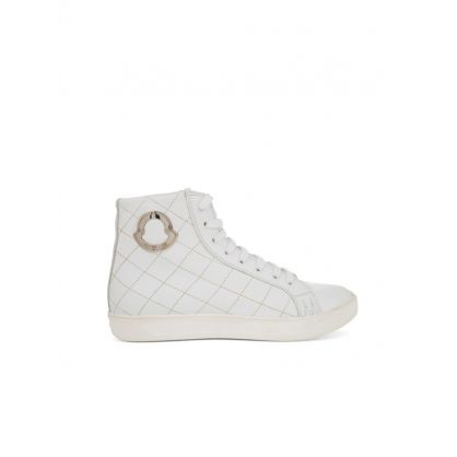 White Isabela Stitched Trainers